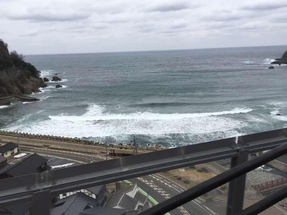 【13:32】余部鉄橋からの日本海